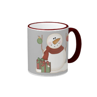KRW Cute Snowman and Ornaments and Gifts Mug