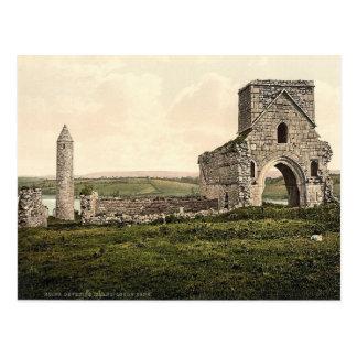 KRW Devenish Island Ruins Ireland Vintage Postcard