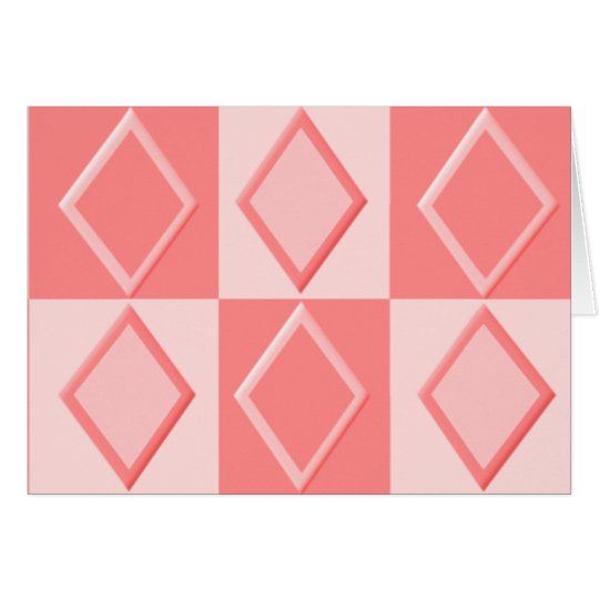 KRW Diamond Pattern Note Cards - Coral