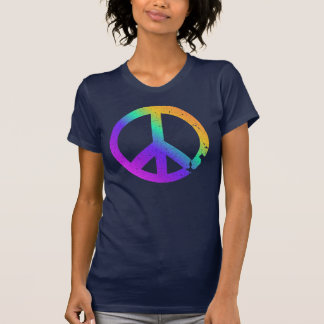 KRW Distressed Rainbow Peace Sign T-Shirt