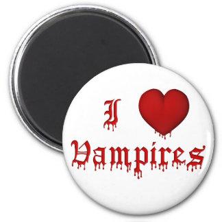 KRW Dripping Blood I Love Vampires 6 Cm Round Magnet