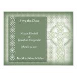 KRW Elegant Celtic Cross Irish Save the Date 11 Cm X 14 Cm Invitation Card