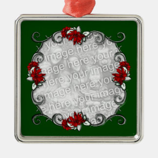 KRW Elegant Pointsettia Frame Keepsake Ornament