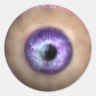 KRW Eye of the Monster Halloween Round Sticker