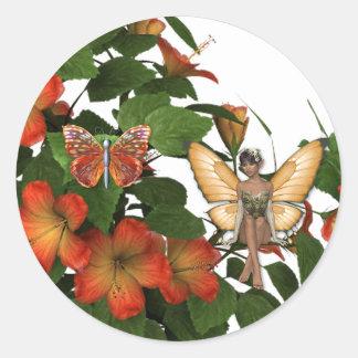 KRW Faeries on the Vine Round Sticker