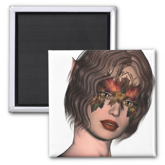 KRW Fall Masked Faery Square Magnet