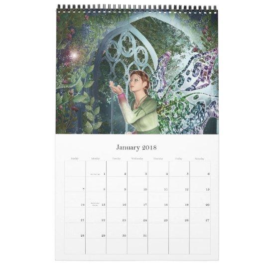 KRW Fantasy Art Portfolio Wall Calendar