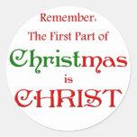 KRW First Part of Christmas Round Sticker