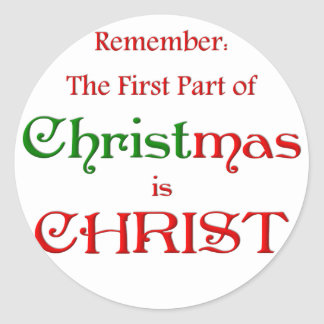 KRW First Part of Christmas Round Sticker