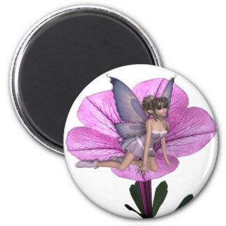KRW Flower Faery 1 6 Cm Round Magnet