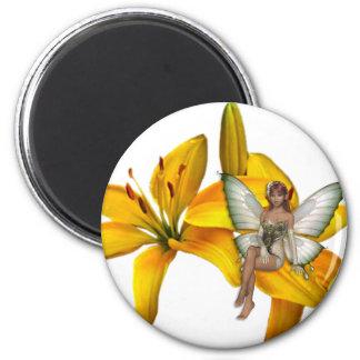 KRW Flower Faery 3 6 Cm Round Magnet