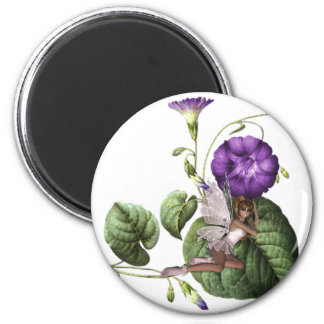 KRW Flower Faery 5 6 Cm Round Magnet
