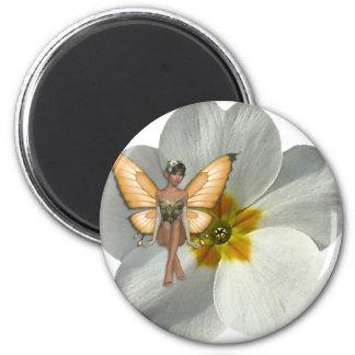 KRW Flower Faery 6 Cm Round Magnet