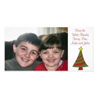 KRW Fun Christmas Tree Custom Photo Card