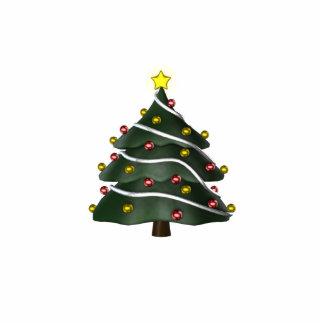 KRW Fun Christmas Tree Pin Photo Sculpture Badge