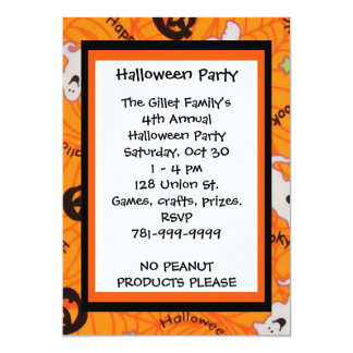 KRW Fun Happy Halloween Custom Party Invitation