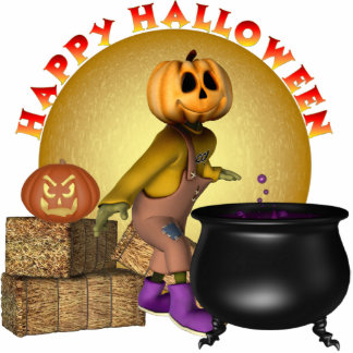 KRW Fun Happy Halloween Small Table Display Standing Photo Sculpture