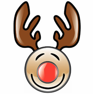 KRW Fun Icon Style Reindeer Christmas Ornament Cut Outs