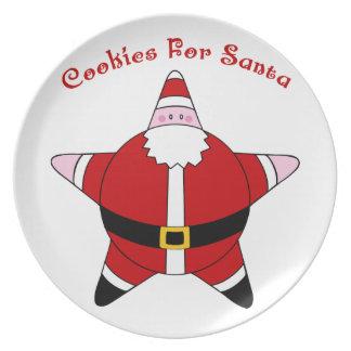 KRW Fun Star Santa Claus Cookies for Santa Plate
