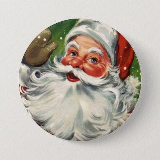 KRW Fun Vintage Santa Claus 7.5 Cm Round Badge
