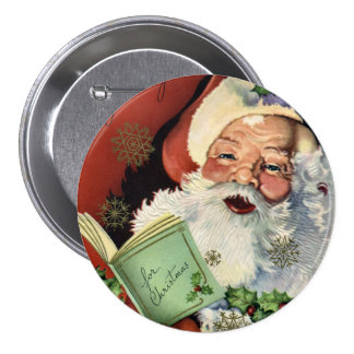 KRW Fun Vintage Santa Claus 7.5 Cm Round Badge