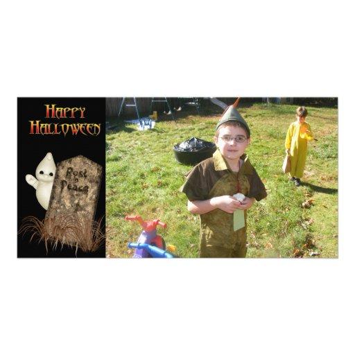 KRW Ghost Tombstone Halloween Photo Card