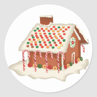 KRW Gingerbread House Holiday Round Sticker