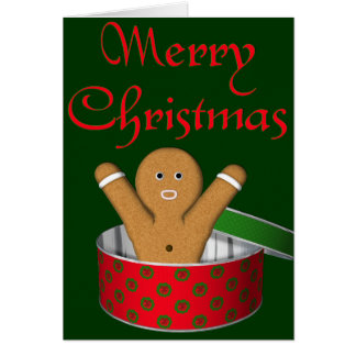 KRW Gingerbread Surprise Christmas Greeting Card