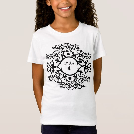 KRW Girl's Custom BFF Monogram Shirt