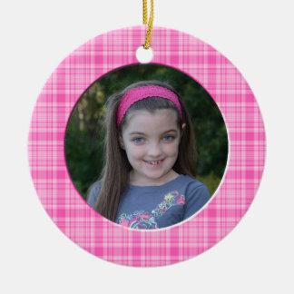 KRW Girl's Custom Christmas Photo Ornament