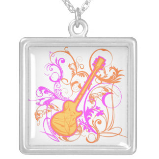 KRW Girls Rock Guitar Sterling Silver Necklace