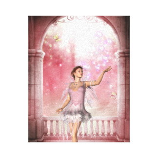 KRW Gloaming in Pink Fantasy Art Canvas