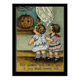KRW Goblins Will Get You Vintage Halloween Postcard