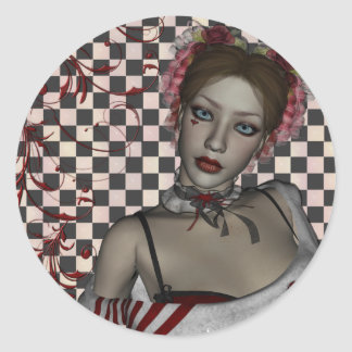 KRW Gothic Sweetheart Round Sticker