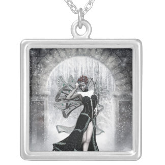 KRW Gothic Winter Fairy Fantasy Silver Necklace