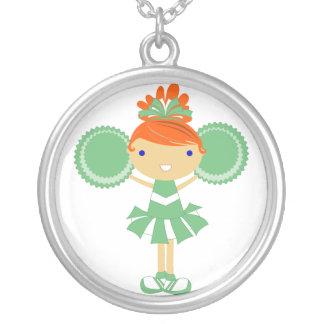 KRW Green Cheerleader Birthday Party Necklace