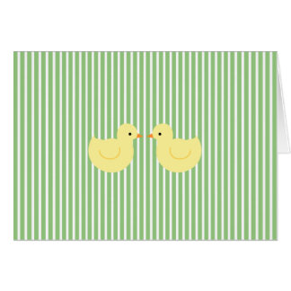 KRW Green Stripe Rubber Duck Baby Shower Invite