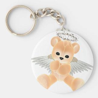 KRW Guardian Angel Bear Basic Round Button Key Ring