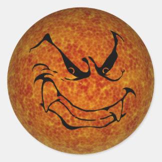 KRW Halloween Evil Moon Shadow Classic Round Sticker