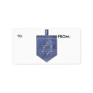 KRW Hanukkah Dreidel To and From Label Address Label