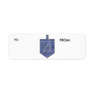 KRW Hanukkah Dreidel To and From Label Return Address Label