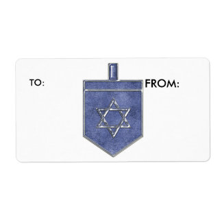 KRW Hanukkah Dreidel To and From Label Shipping Label