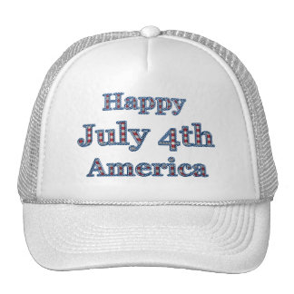 KRW Happy Fourth of July America Mesh Hat