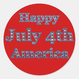 KRW Happy Fourth of July America Sticker