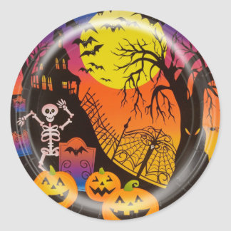 KRW Happy Halloween Haunted House Sticker