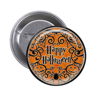 KRW Happy Halloween Scroll Design Pin