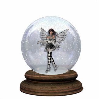 KRW Harlequin Faery Globe Sculpture Standing Photo Sculpture