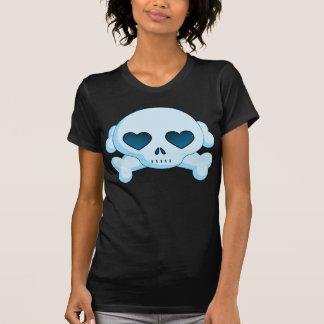 KRW Heart Skull and Crossbones Blue T-Shirt