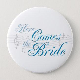 KRW Here Comes the Bride Button - Pin