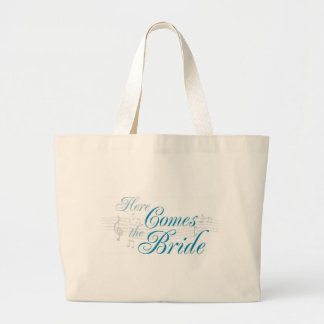 KRW Here Comes the Bride Tote Canvas Bags